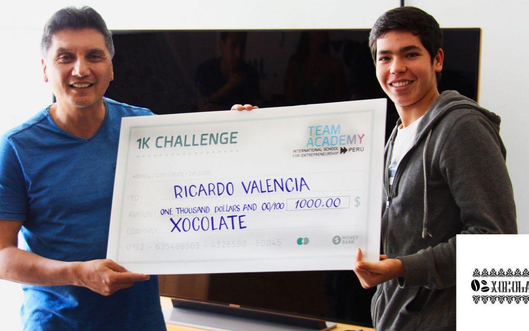 Alumno de Team Academy ganó $1000.00 para empezar su startup: #1kChallenge
